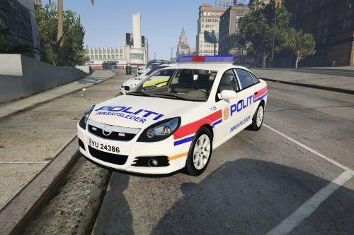 Norwegian Opel Vectra police car [ELS]