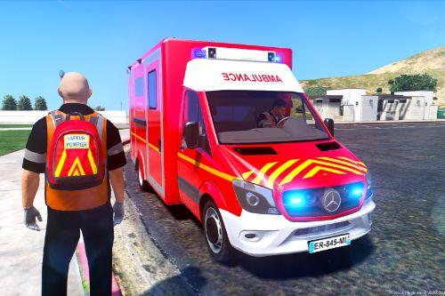 VSAV pompier Mercedes (French paramedic ambulance)