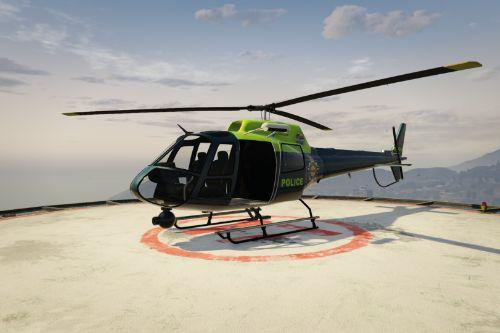 NPAS - National Police Air Service - British Police Helicopter Texture