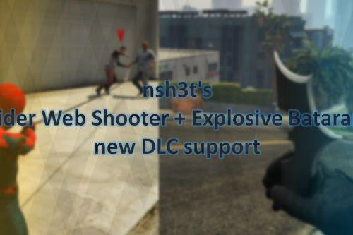 Spider Web Shooter + Explosive Batarang New DLC Support for HUD