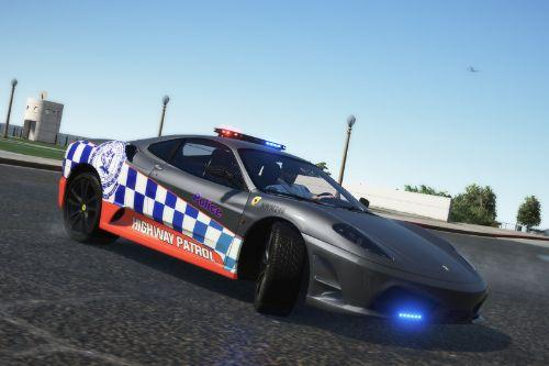 NSW Police highway patrol ferrari f430 (fictional)