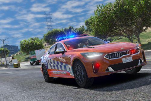 NSW Police Kia Stinger Highway patrol