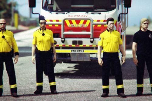 NSW Rural Fire Service textures for Freemode Male/Female & Ped Firefighter 1.0