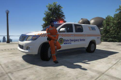 NSW SES state emergency service uniform & vehicle skin