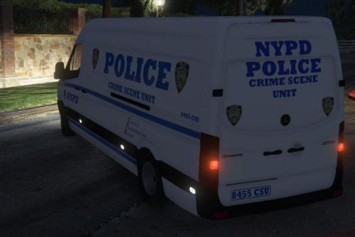 NYPD Crime Scene Unit (Skin) Sprinter