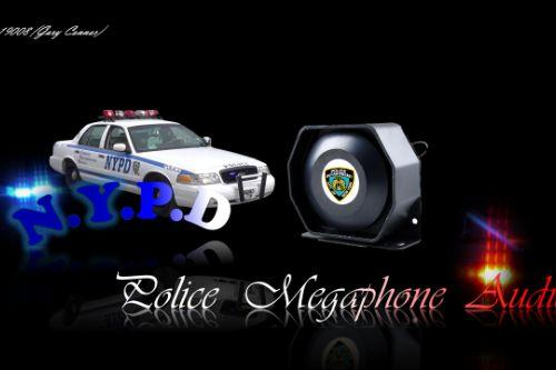 NYPD PoliceMegaphoneAudio