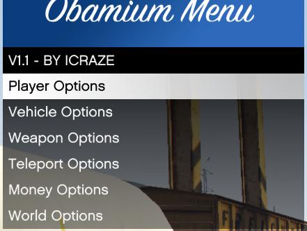 Obamium Menu