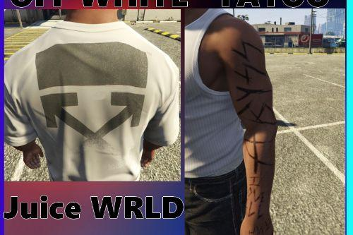 """Off white shirt and """"juice wrld's tatoo' for Franklin """"addon"""""""