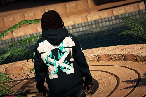 Off White Tulips Arrow hoodie