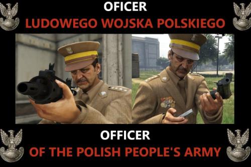 Oficer LWP PRL Polska Poland Polish Polski