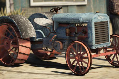 Old tractor retextured Ford