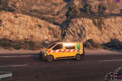 Opel Vivaro vehiculo de conservación de carreteras Españolas