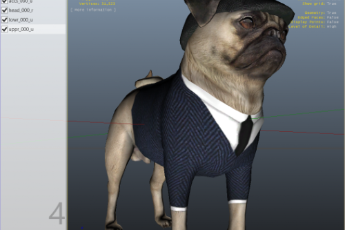 Ourstory's Peaky Blinder Pug Blonde SP and FiveM Ready