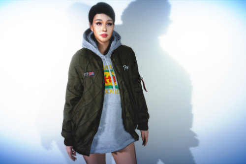Oversized Hoodie Jacket for MP Female