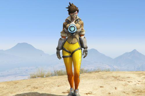 Overwatch Tracer [Add-on Ped] (Face Rigged+Emissive)