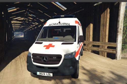 Mercedes Sprinter V230 Ambulancia 2019 3Liverys Cruz Roja Española