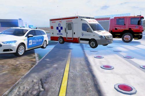 Pack vehiculos de emergencias Asturias + Uniforme policia local