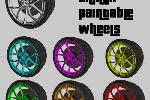 Paintable Buggati Chiron Wheels [ZModeler3 Resource]