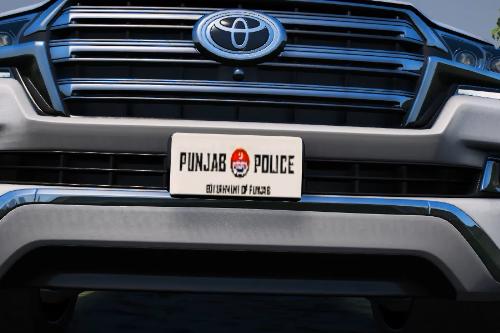 Pakistani  Punjab Police Number Plate