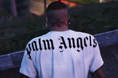 PALM ANGELS logo tee /loose t-shirt/