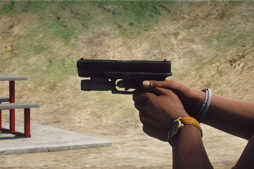 PAYDAY 2 Glock 17 Texture With Night Sights - gun model by metroidguy