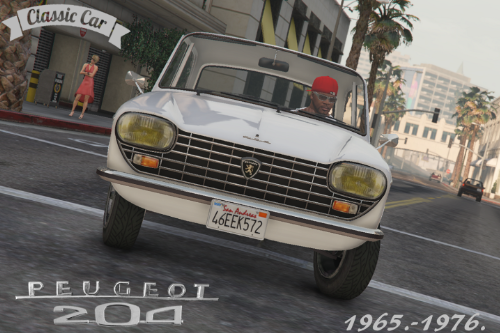 PEUGEOT 204 [Add-On] + [Replace] for Glendale, with tuning parts