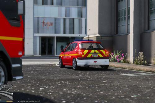 """Peugeot 206 Sapeurs Pompiers """"Chef de groupe"""""""