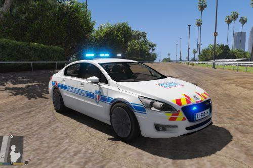 Peugeot 508 French  police municipale  [nonELS-ELS]
