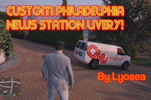 Philadelphia News Station Textures for Weazel News Rumpo Van!