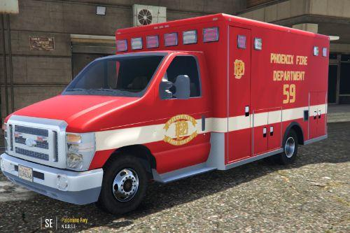 Phoenix Fire Department Ambulance Livery (Ford E450)