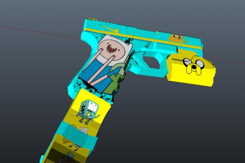 Pistol 9mm Finn&Jake