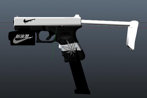 Pistol MKII  Nike White and Black