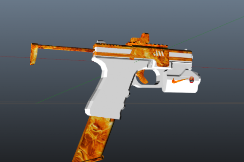 Pistol MKII White And Fire