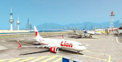 PK-LQP Lion Air Boeing 737 MAX 8 Livery