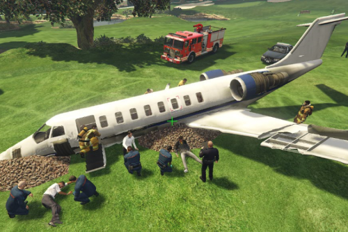 Plane Crash at the Golf Club [Menyoo]