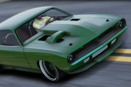 "Plymouth Cuda ""Torc"" Weaver Customs Twin Turbo Disel '70 [Animated Engine & Exhaust]"