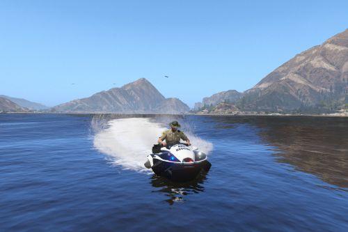 Blazer Aqua police amphibious quad bike [Add-On | Template]