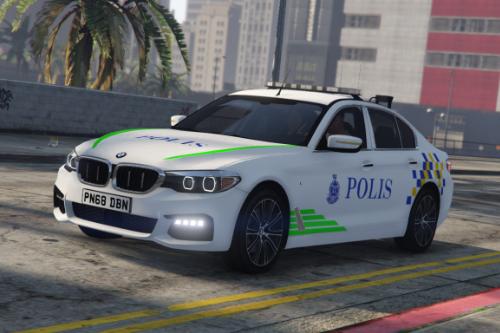 Police BMW 540i xDrive Malaysia PDRM Texture