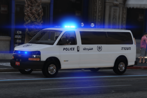 Police car chevrolet savana express Israel Police 2021 Special patrol unit