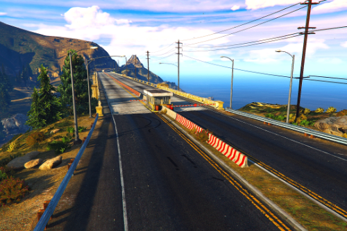 Police Checkpoint Freeway - Paleto Bay Bridge [FiveM | SP Menyoo]