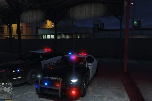 Police cruiser light color change