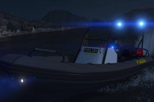 Police Dinghy | Kapal Polisi / Indonesian Police Boat Livery