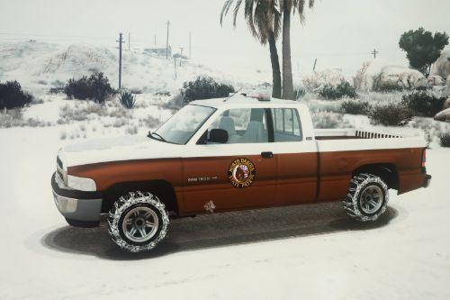 Police Dodge Ram 1500 [ Snow | Replace ]