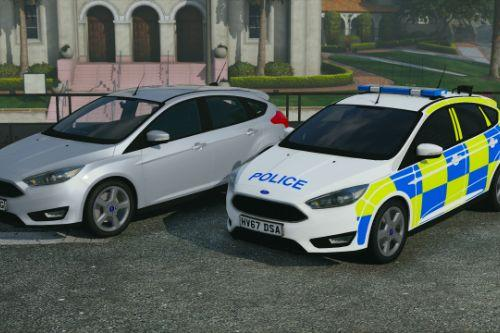 Police Ford Focus Hatchback (Pack) [Replace | ELS]