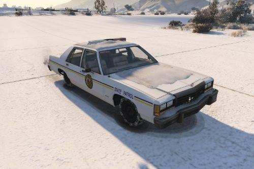 Police Ford LTD Crown Victoria 1987 [ Replace | Snow ]