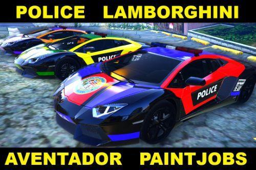 73454f gta5 police lamborghini aventador paintjobs