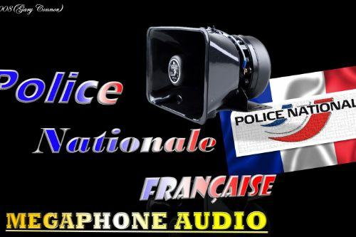 Police Nationale Française MegaphoneAudio