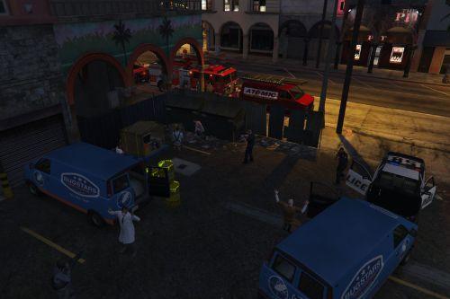 Police operation on biohazard company [Menyoo]
