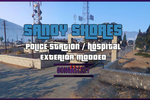 Police Station & Hospital - Sandy Shores [FiveM | SP Menyoo] [YMAP | XML]
