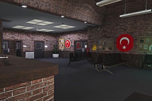 Türk Polis Karakolu (Swedish Police Station Re-texture ) (FiveM) Version 1.0